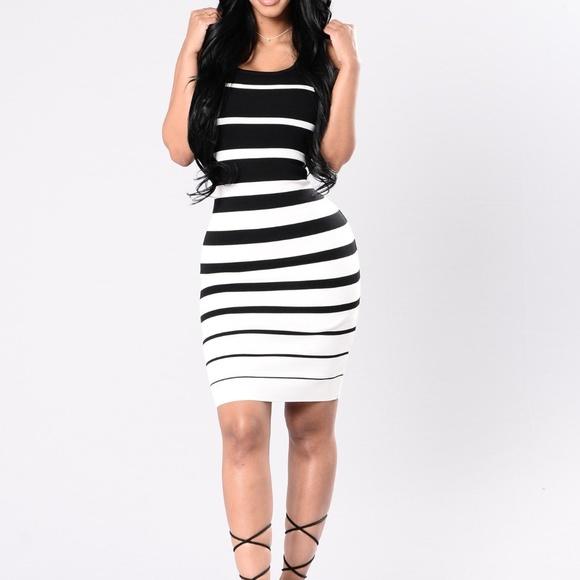 4ff26c317e6 Fashion Nova Dresses   Skirts - Fashion Nova Black and White Striped Dress